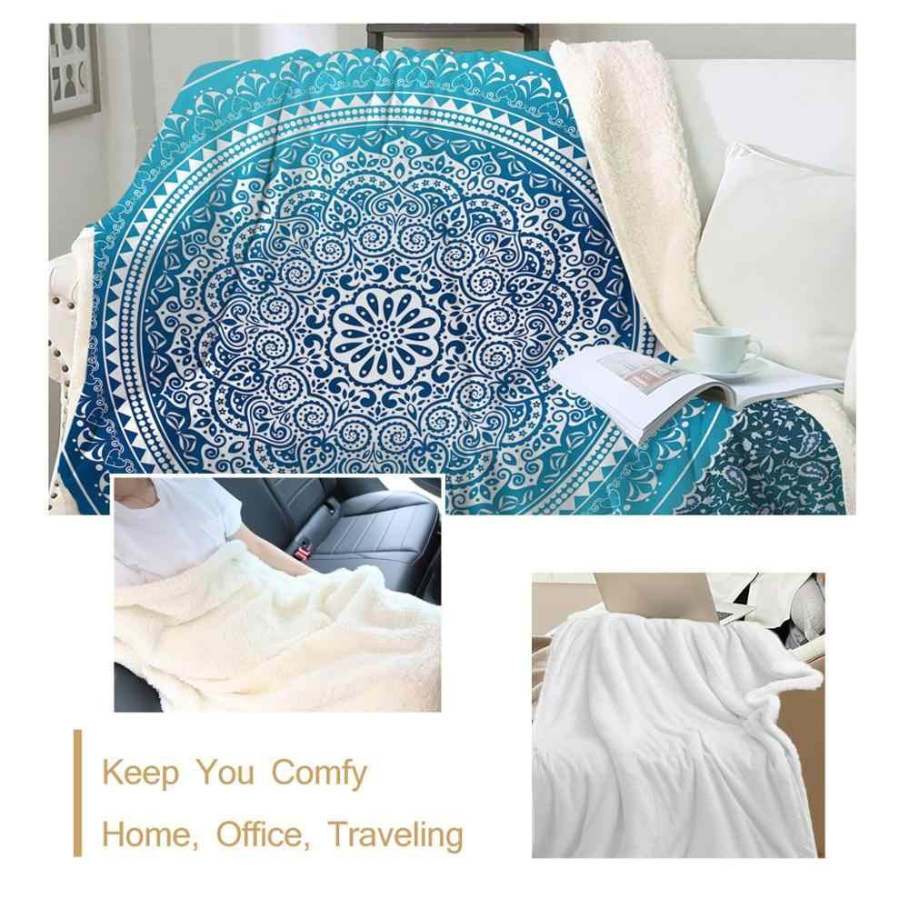 Beddingoutlet Sherpa Throw Blanket Turquoise Paisley Mandala Design Sherpa Fleece Blanket Super Soft Cozy Velvet Plush Blanket Aliexpress