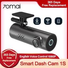70mai Smart Dash Cam 1S Auto DVR Englisch Voice Control APP Rekord Control 130 ° Weitwinkel Loop aufnahme dash Kamera Recorder
