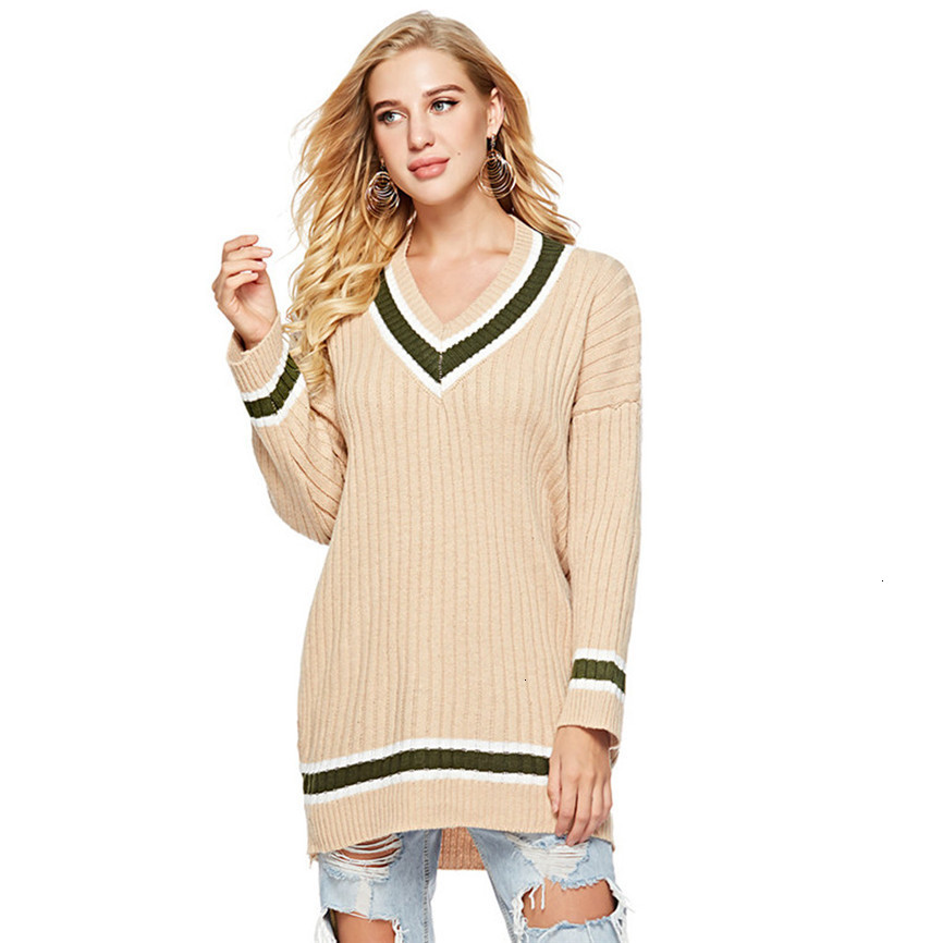 Luxury Sweaters For Women Womens Long Sleeve V Neck Pullover Sweater Ladies Loose Blouse Knitting Top Thin Pullover Jumper