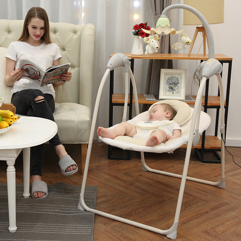 Baby Electric Rocking Chair Baby Cradle Recliner Sleepy Newborn Comfort Chair