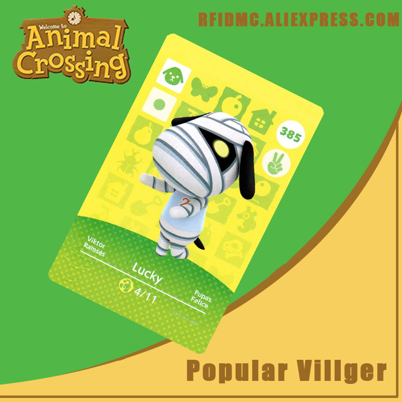 385 Lucky Animal Crossing Card Amiibo For New Horizons