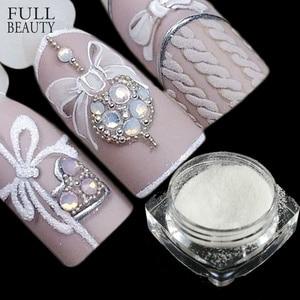 Image 1 - 1 box Sugar Candy Coat Glitter Nail Pigment Dipping Powder Laser White Nail Art Decorations Dust Nail Glitter Flake CHTY0105 1