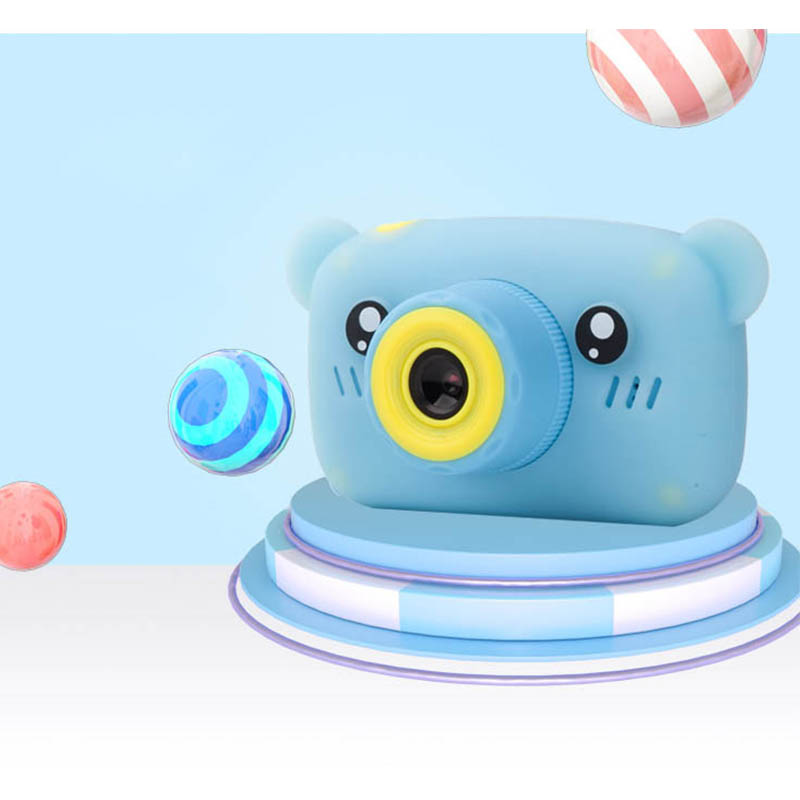 HobbyLane Portable Children 1300W HD Digital Camera Cute Cartoon Bear Shape 2 Inches IPS Screen Mini Camera Toy Gift For Kids 4