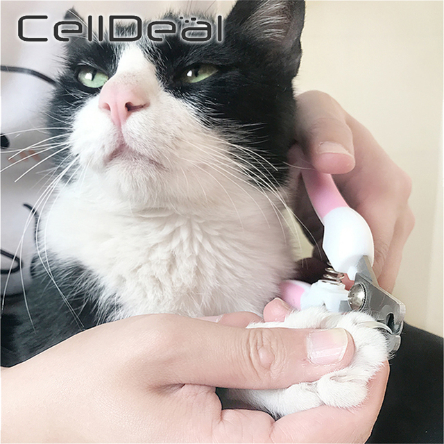 Professional Pet Nail Clippers Dog Cat Stainless Steel Two-color Labor-Saving Nail Clippers Convenient Beauty Cleaning Supplies- 2