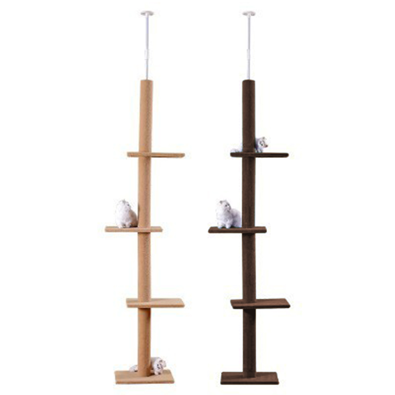 Adjustable 228~289cm Cat Climbing Tree Cat Jumping Frames Toys Scratch Post for Kittens Cat Toy