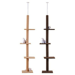 Ajustable 228 ~ 289cm gato trepador árbol gato saltar marcos juguetes poste de rasguño para gatos juguete