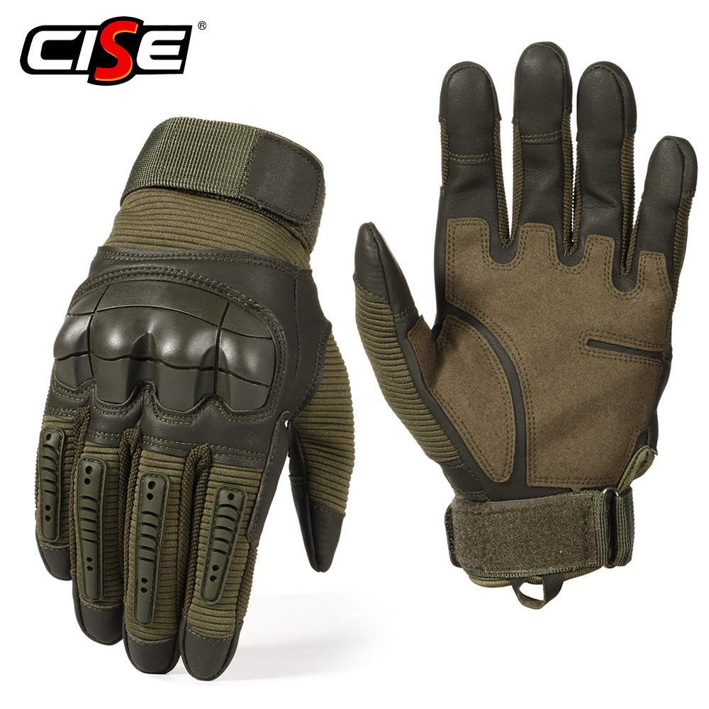 Image 5 - Touch Screen PU Leather Motorcycle Gloves Motocross Protective  Gear Motorbike Racing Hard Knuckle Full Finger Glove Men WomenGloves    -