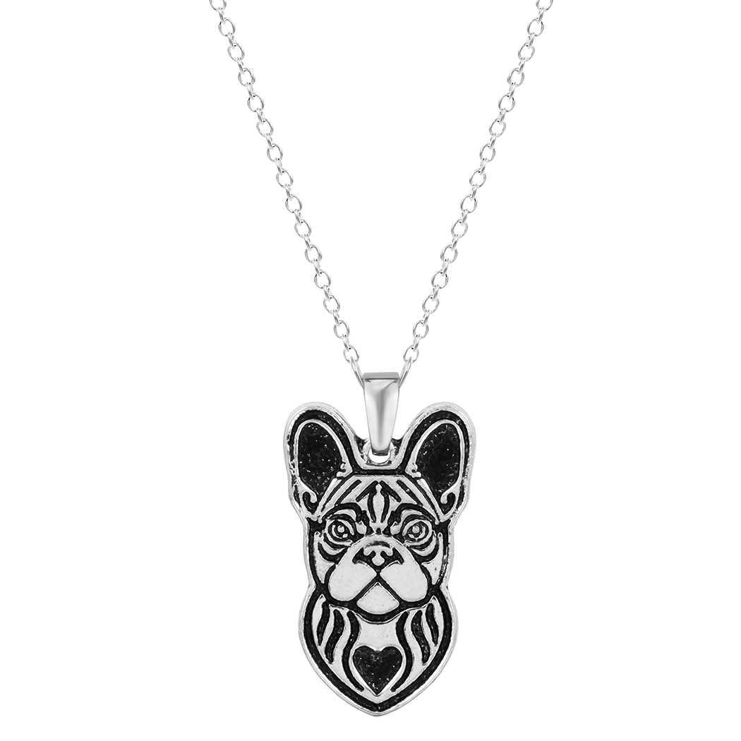 Kinitial แฟชั่นฝรั่งเศส Bulldog สร้อยคอภาษาฝรั่งเศส Bulldog จี้-Dog breed Charm Chain เครื่องประดับสำหรับผู้หญิง collares