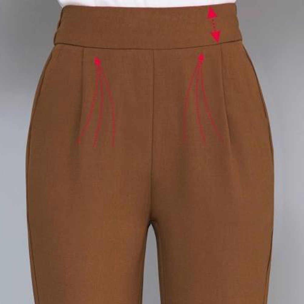 2019 yeni bayanlar kore Ol siyah harem pantolon nefes ince rahat kalem pantolon basit pantolon artı boyutu M-3XL