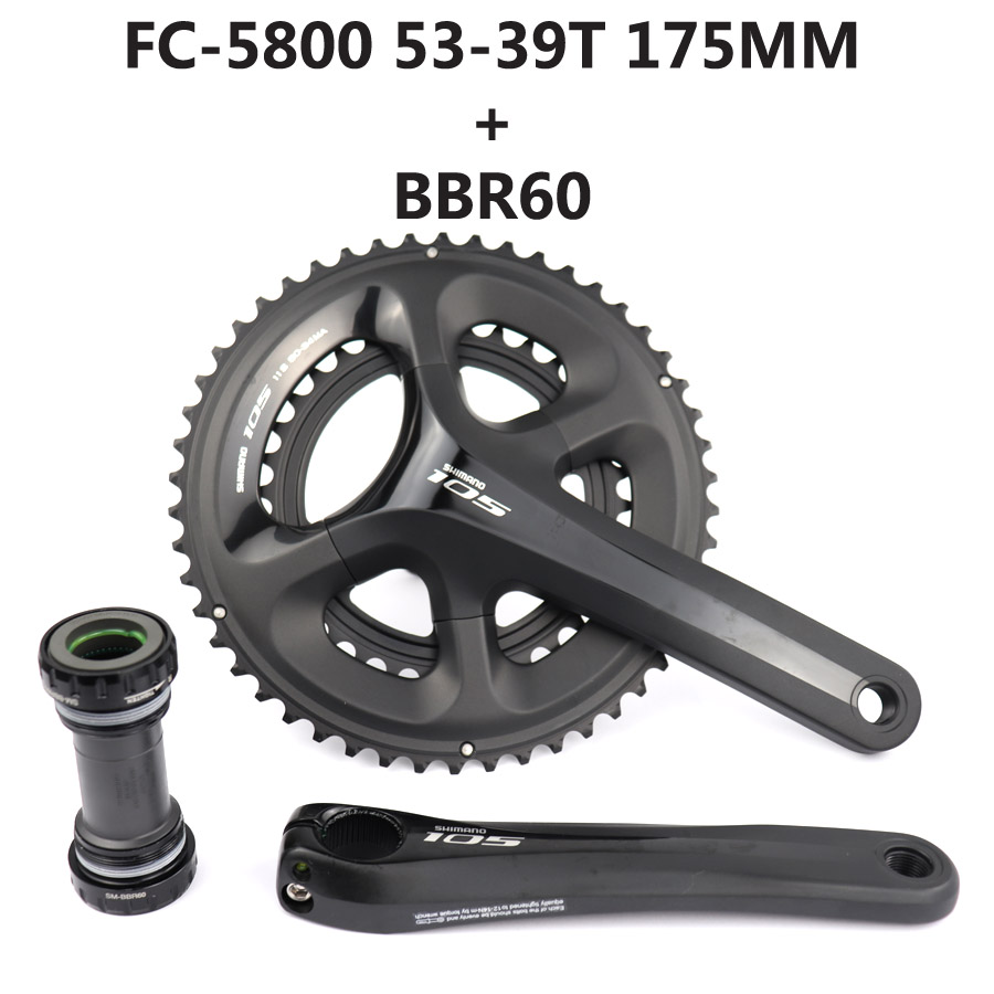 Shimano 105 FC-R7000 Crank Set 165//170//172.5//175mm 50//34//52//36//53//39T W//O BB