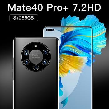 Mate40 Pro+ Android10 Smartphone 7.2 Inch HD Full Screen 512GB FaceFingerprint Unlock Phone Global Version 4G/5G Mobile Phone 4