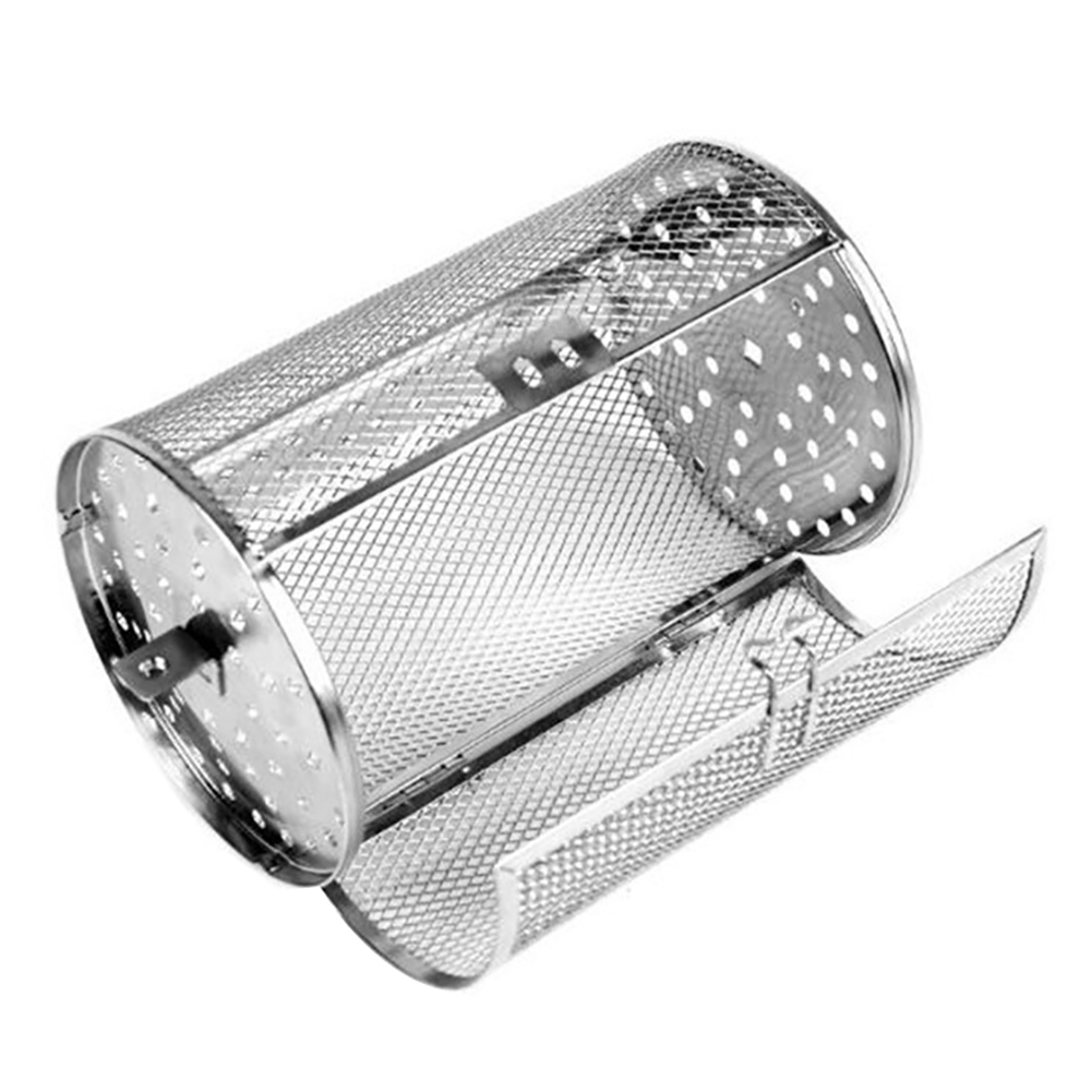 Hot Stainless Steel BBQ Grill Oven Rotated Roaster Drum Peanut Coffee Beans Basket Barbecue Accessories For Home Barbecue Grill(China)