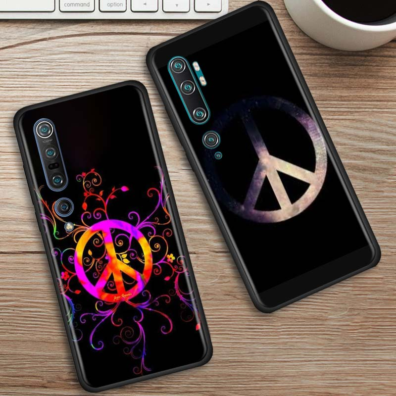 Hippie Psychedelic Case For Xiaomi Mi Note 10 9 9T Pro 5G CC9 CC9E 8 A3 A2 Lite Poco X2 F1 Black Soft Phone Cover Bags