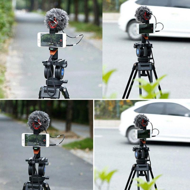 Интервью конденсаторный микрофон для записи Mic w/лобовое стекло Анти-шок крепление с 3,5 мм TRS/TRRS для DSLR камеры видеокамеры
