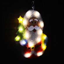Toprex christmas tree santa clause led lights decoration festival fairy outdoor navidad