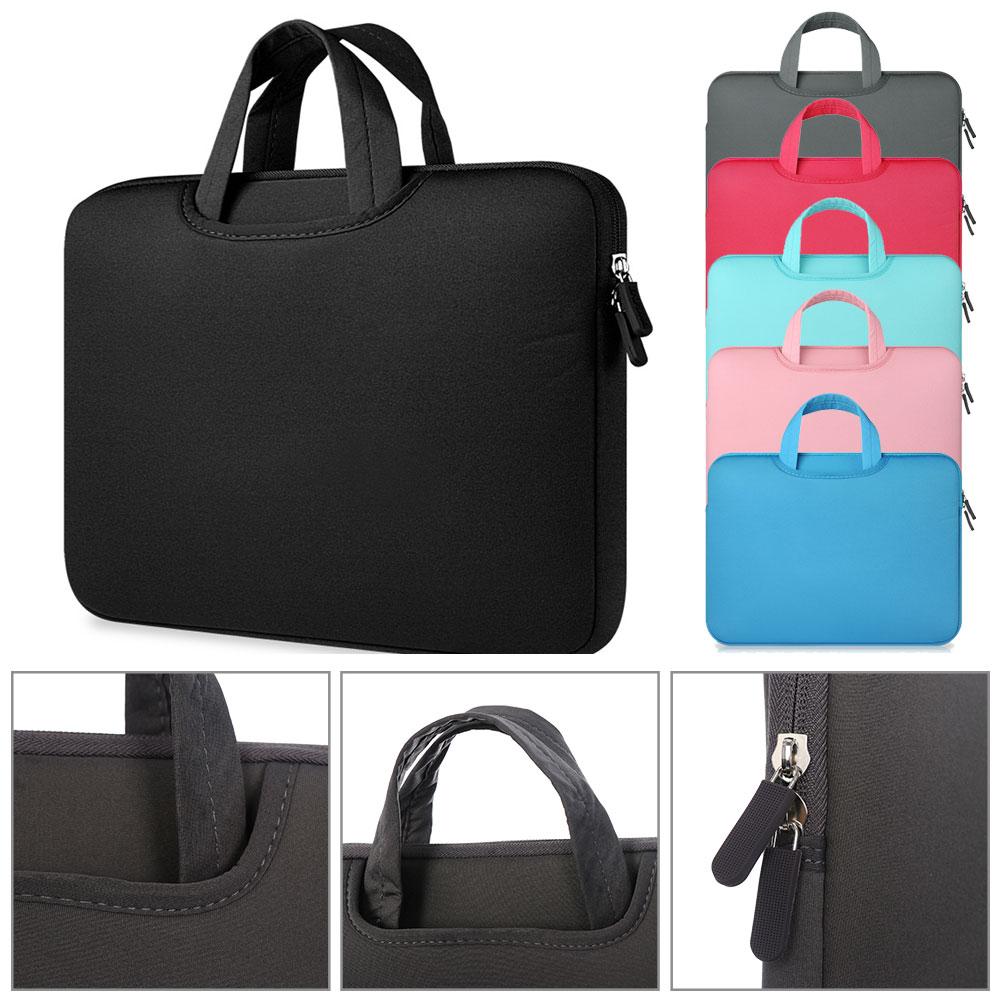 11 12 13 14 15 15.6 Inch Laptop Bag Computer Sleeve Case Handbags Dual Zipper Shockproof Cover For Apple Sumsung Macbook Pro