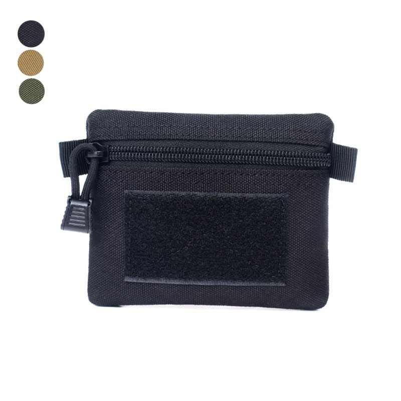 Outdoor Multi-function (Tactical) Square Wallet Purses Waterproof Sports Zipper Card Key Holder Change Coins Pocket Sack