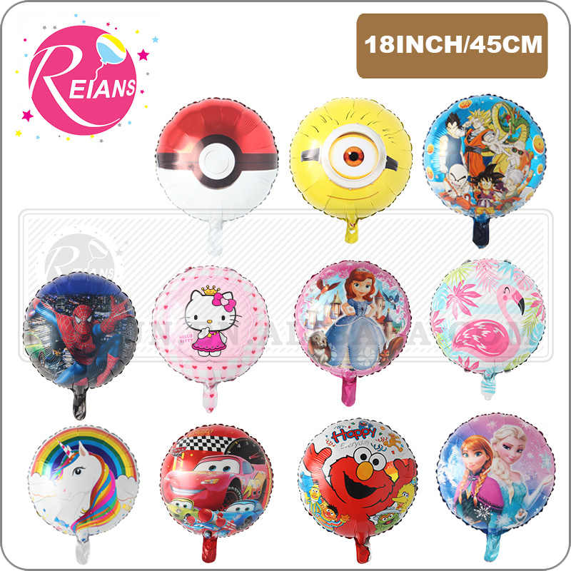 18 zoll runde Cartoon einhorn Mickey Minnie maus dragon ball z cartoon ballons geburtstag party dekoration folie ballon globos
