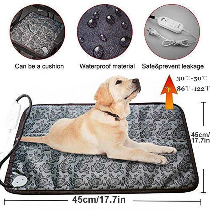 Benepaw coussin chauffant réglable pour chien chat chiot mise hors tension Protection animal de compagnie électrique chaud tapis lit imperméable résistant aux morsures fil
