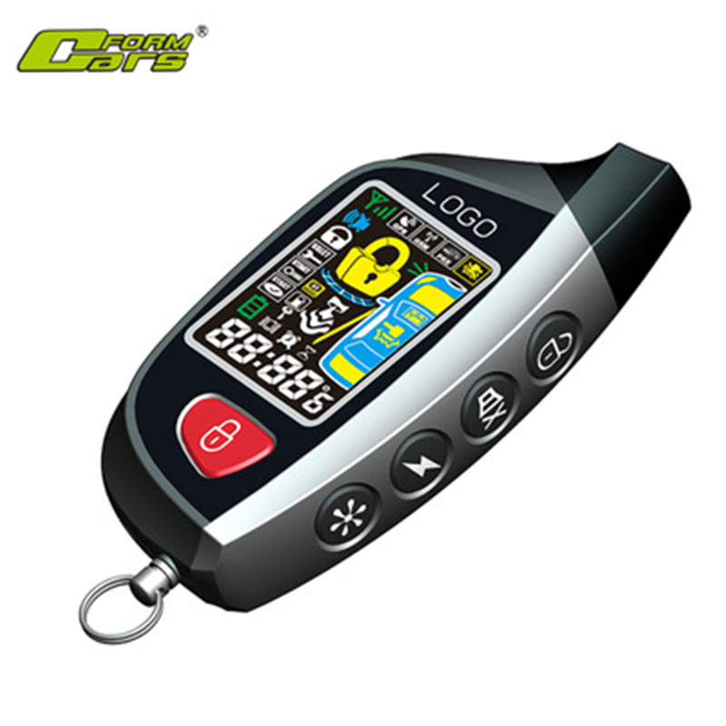 Car Alarm With Auto Start With LoRa Technology Remote Control LCD Screen Remote Start Signaling Central Locking Start Stop