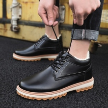 Serene authentic mens shoes winter new high to help retro tooling cotton Martin boots