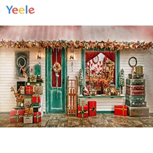 Yeele Photography Photophone Backdrop Christmas Gift Store House Celebrate Child Background Photo Studio Photobooth Shoot photographic backdrops christmas red house gift window children celebrate photocall photo studio photobooth fantasy background