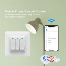 1/2/4 pcs Smart WiFi Light Switch Interruptor button Wall penal Switch App Remote Control Intellegent Switch For Alexa google