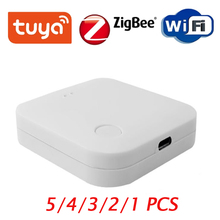 2020 Tuya ZigBee Smart Gateway Hub Smart Home Bridge Smart Life APP Wireless Remote Controller Works With Alexa Google Home