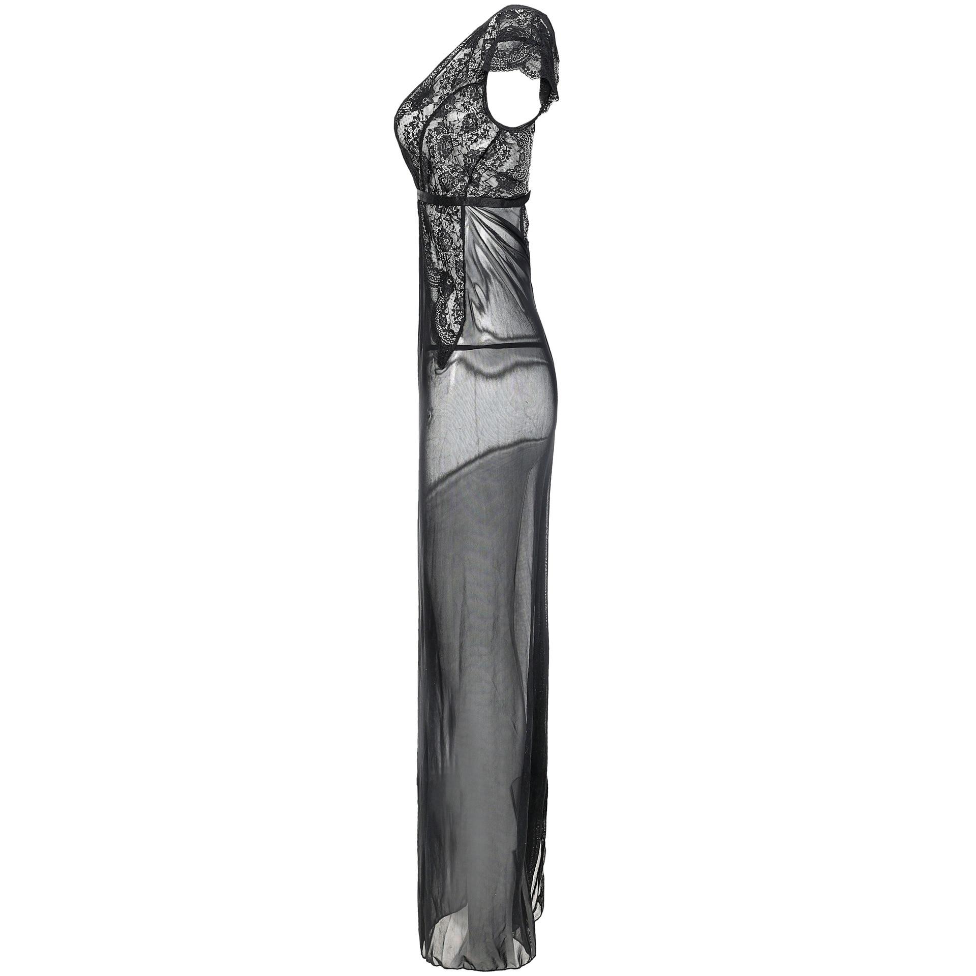Volwassen sexy Belang pyjama Lingerie voor dames Sexy see through jurk - 3