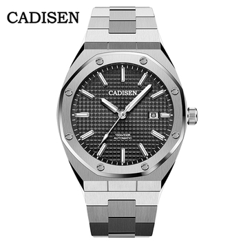 NEW CADISEN Men Watches Top Brand Luxury Mechanical Automatic Blue Watch Men 100M Waterproof Casual Business luminous Wristwatch 2018 new watch men s automatic mechanical watch men s watch hollow fashion trend luminous waterproof men s watch