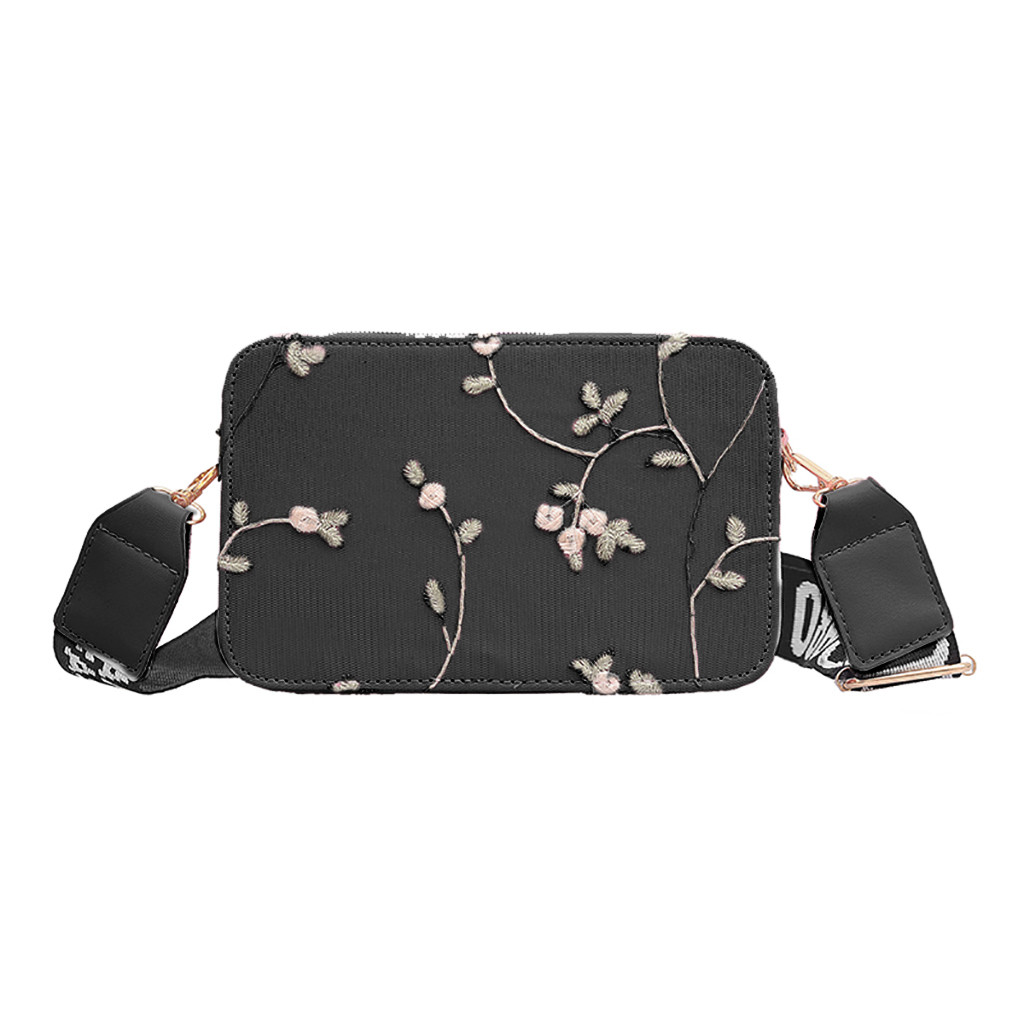 Vintage Casual Hand Bags For Women's 2019 Fashion Lace Retro Shoulder Bag Bolso Mujer Floral Zipper Embroidery Beach Bag Sac #C9