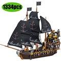 Пираты Карибского моря черный вечный пиратский корабль кораблик строительные блоки подходят для Lepining Creator Technic Bricks детская игрушка