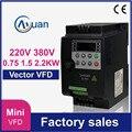 Мини частотно-регулируемым приводом 2.2kw 1.5kw 0.75kw 220V 380V векторный частотно-регулируемый инвертор для скорость приводного двигателя преобразо...