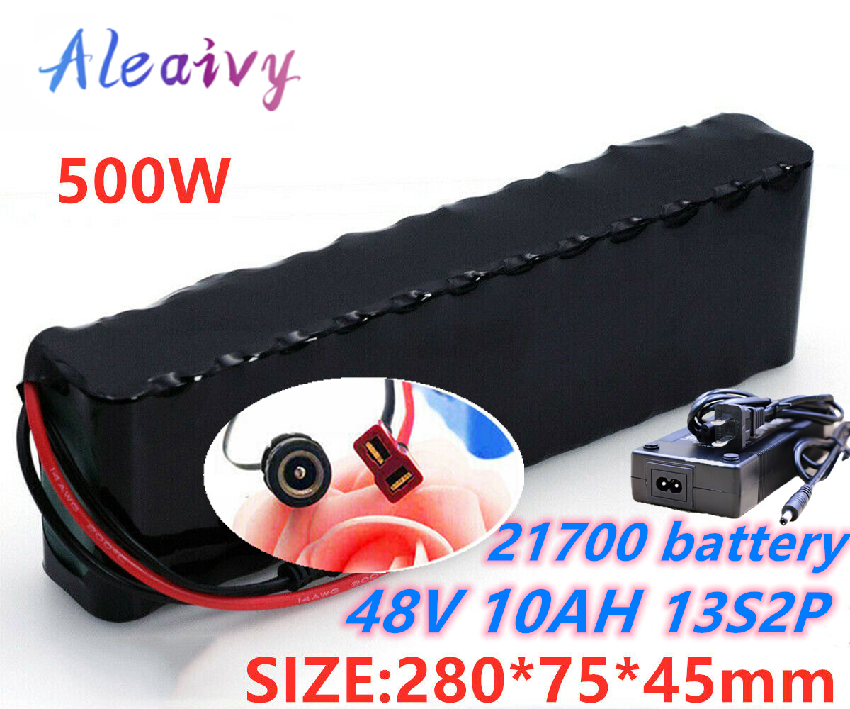 Li-ion Battery 48V 14AH Volt Rechargeable Bicycle 1000W E-Bike Electric Li-ion