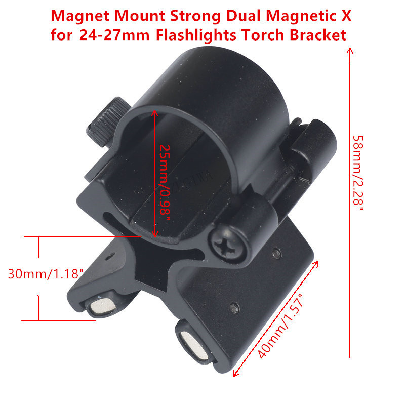 Magnet Mount Strong Dual Magnetic X for 24-27mm Flashlights Torch Bracket Scope Gun Barrels Mount Tactical with Original Box
