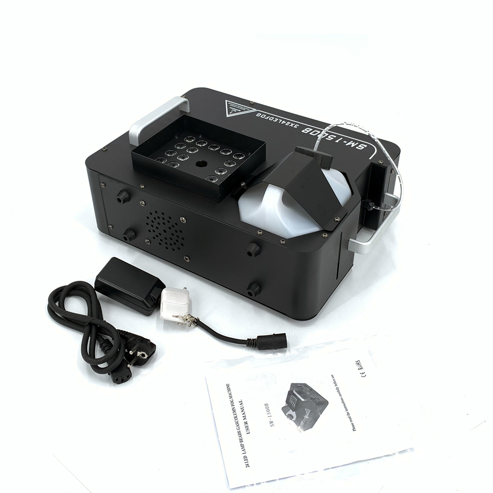 2000W LED Fog Machine Vertical Smoke Machine With 24x9W RGB LED Lights  Smoke Machine/Professional Fogger Dj Stage Equipment