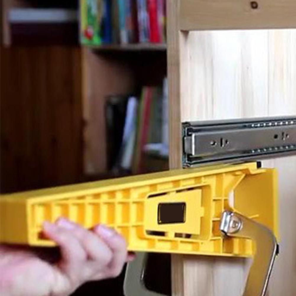 2pcs/set Cabinet Furniture Engineering Plastics Fast Installation Of Locator Extension Cupboard Hardware Guide Drawer Slide Jig