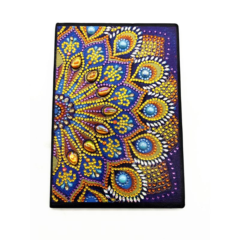 OOTDTY Flowers DIY Diamond Painting Special Shaped A5 Notebook Diary Book Embroidery Agenda 2020 Planner 2020 Note Book