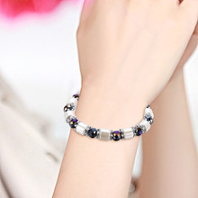 NJ Natural Stone Woman Man Beaded Bracelet New Fashion Couple Bangle Male Accessories Jewelry For Gift