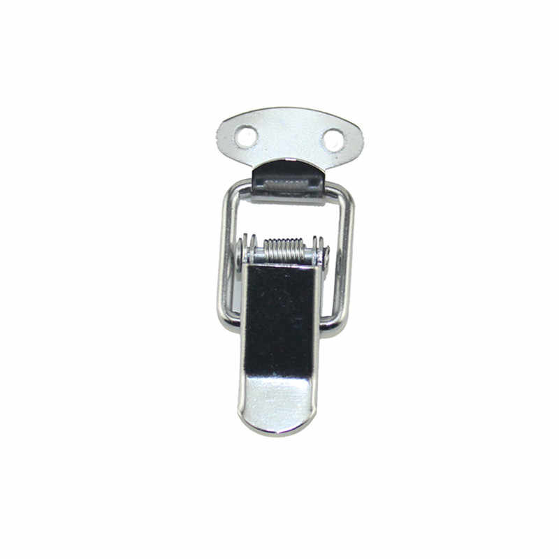 White Duck-mouth Buckle Vintage Mini Lock Chest Box Gift Box Suitcase Case Buckles Toggle Hasp Latch Catch Clasp,43*21mm,10PCs