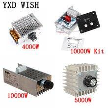 Ac 220 v 4000w/5000w/10000w regulador de tensão scr escurecimento led dimmer controlador de velocidade do motor termostato dimer 220 v fonte de alimentação