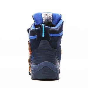 Image 5 - Dinoskulls 소년 겨울 부츠 눈 정품 가죽 T 렉스 LED 빛나는 패션 2020 어린이 2 8 따뜻한 봉 제 양 털 어린이 부츠 신발