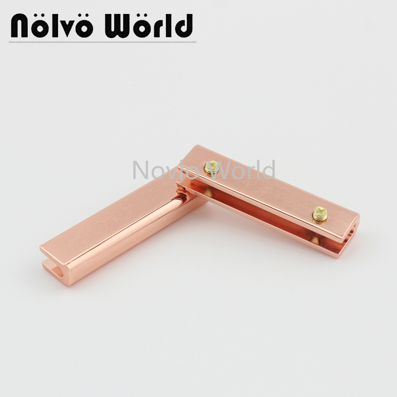 Wholesale 500pcs,38mm 1-1/2 Inch, Rose Gold Metal Side Clip Buckle Handbag Hanging Hook Strap Chain Clip With Screw Accessories