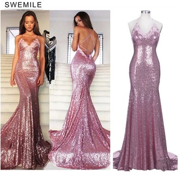 Real Image Bling Rose Mermaid Prom Dresses Long Backless Evening Gowns Female Formal Evening Party Gown Robe De Soiree african silver high neck mermaid prom dresses ruffles rose flower prom gowns robe de bal backless party dresses evening wear for