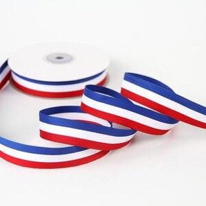 Горячий 5 м 40 мм красный белый синий Fance ремень Grosgrain лента DIY Швейные тканевые аксессуары рюкзак ремни лук полоса уклонистая лента