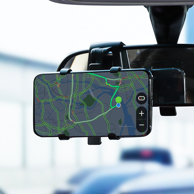 ANMONE Dashboard Car Phone Holder 360 Degree Mobile phone Stands Rearview Mirror Sun Visor In Car GPS Navigation Bracket 2
