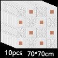3D Wand Aufkleber Stereo Decke Panel Dach Decor Schaum Tapete Selbst-klebstoff Wasserdicht DIY Wohnzimmer Dekoration TV Hintergrund