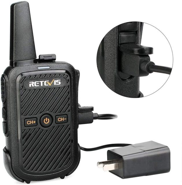 Mini Walkie Talkie Retevis RT15 Portable Two way Radio Portable Radio Communicator Walkie-Talkies 1 or 2 pcs for hotel Hunting 4