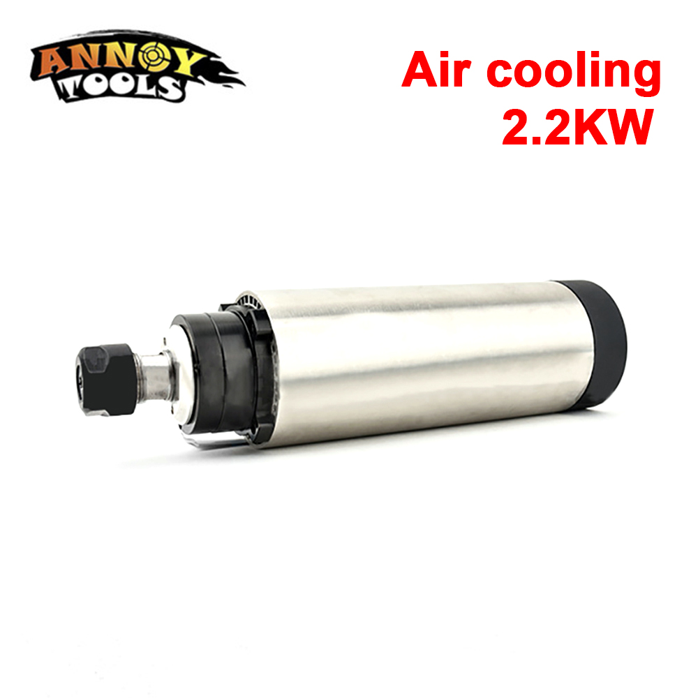 <font><b>2.2kw</b></font> <font><b>Air</b></font> <font><b>cooled</b></font> <font><b>spindle</b></font> motor ER20 runoutoff 0.01mm,220V,4 Ceramic/Steel bearing,CNC Engraving milling grind image