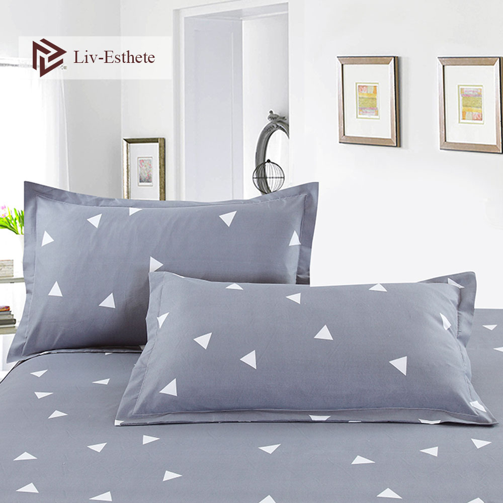 Liv-Esthete Classic Geometric Pillowcase Wholesale Decorative Beauty Floral Pillow Case Cover Bedding For Women Men 48x74cm